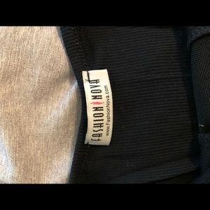 Fashion Nova Tops - Mesh Peakaboo Bodysuit - Fashion Nova Small